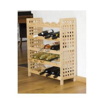 meuble bois etagere porte bouteilles a vin decoratif pour cave et cuisine rangement de l. Black Bedroom Furniture Sets. Home Design Ideas
