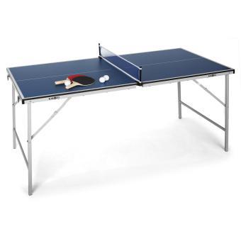 94 91 sur klarfit mini table de ping pong pliable bleue table de tennis de table achat. Black Bedroom Furniture Sets. Home Design Ideas