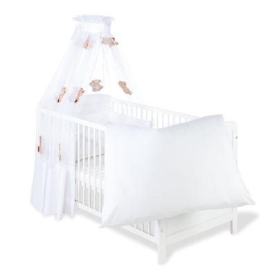 Pinolino - Parure lit bébé - 4 pièces - 120x60cm ou 140x70cm – blanche ours
