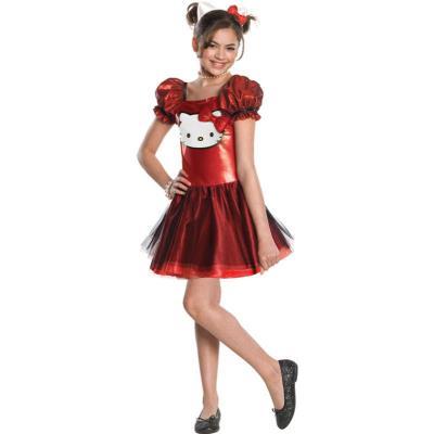 Déguisement Hello Kitty? rouge fille 5 à 7 ans