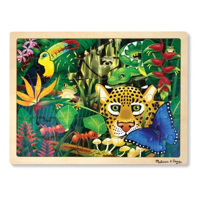 Puzzle en bois la forêt tropicale 48 pièces
