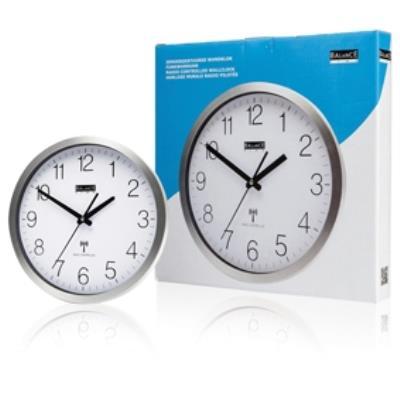 Horloge murale en aluminium à commande radio balance 816438
