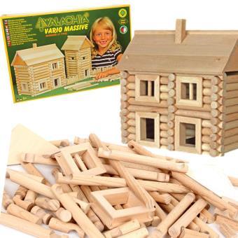 Jeu de construction chalet en bois VARIO MASSIVE 209 PCS Enfants 5 ans + - Autres jeux de ...