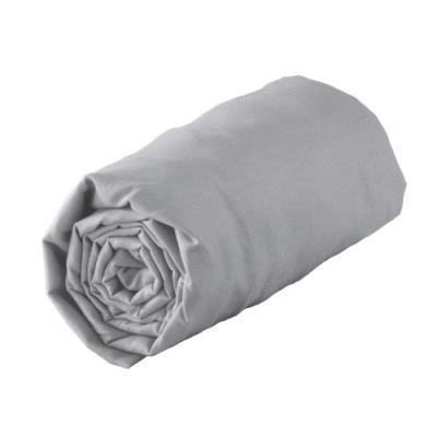 Douceur d'intérieur 1640329 new drap housse jersey uni gris 160 x 200 cm