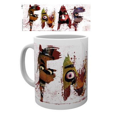 Tasse a cafe Five Nights at Freddys Lettres