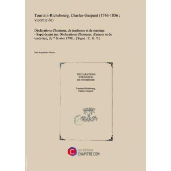 Déclarations Dhonneur De Tendresse Et De Mariage