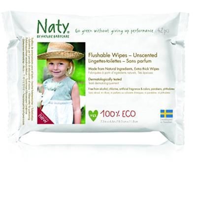 Naty 12 packs de 42 lingettes douces ecologiques toilette
