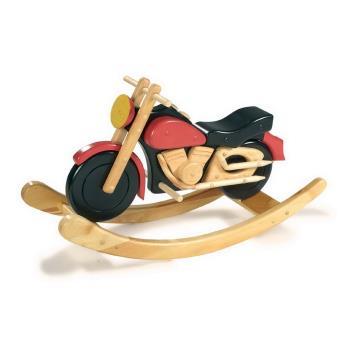 Jouet à bascule moto en bois Yémen