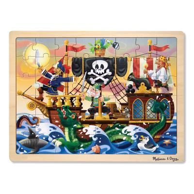 Puzzle en bois les aventures de pirates 48 pièces