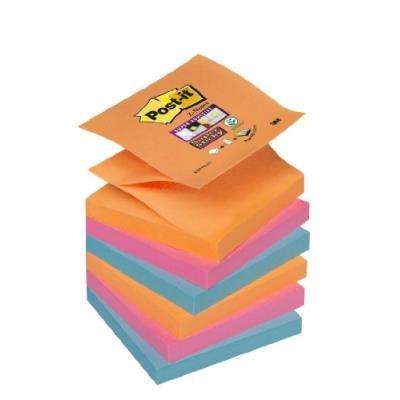 Post-it super sticky lot de 12 blocs de z-notes 76 x 76 mm orange post-it® r330-6ss