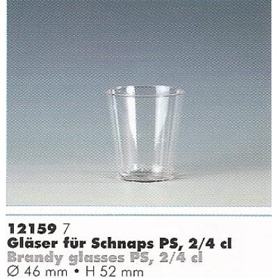 40 verres de cognac - 4 cl - ø 4,2 cm - 5,2 cm en plastique transparent table et boisson & coupes 12159