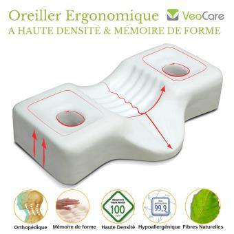 Oreiller Ergonomique Cervical   VeoCare   Mémoire de forme 100kg