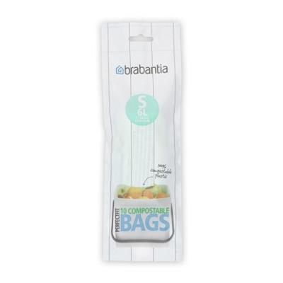 Sacs poubelle compostables Brabantia PerfectFit 6 L (Type S)