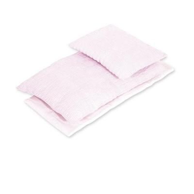 Pinolino - Textile 3 pièces pour lit de poupée - Vichy rose