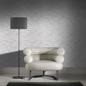 Papier peint design z bre gris clair couleur blanc argent for Papier peint blanc argent