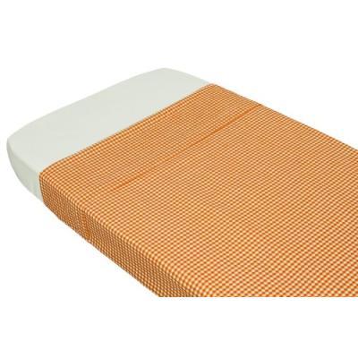 taftan - drap de lit vichy orange (100 x 80 cm) - orange