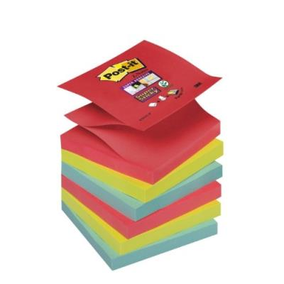 Post-it r330-6ss-jp lot de 6 blocs de z-notes 76 x 76 mm couleurs vitaminées