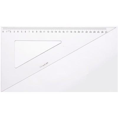 Equerre graduée 60° 2 bords anti-taches 30 cm - graph it