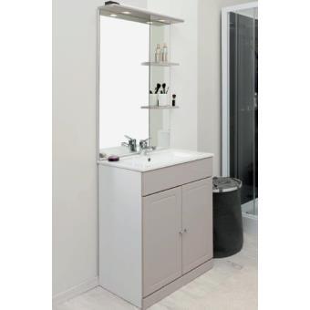 Aqua+ - meuble salle de bain taupe à poser 60cm - tolede