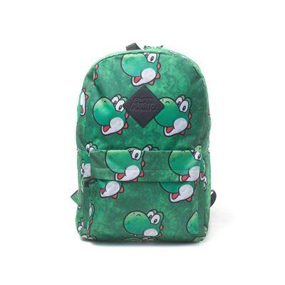 Nintendo NINTENDO Super Mario Bros. Yoshi Face Sublimation Print Backpack, Multi-Colour (BP365318NTN) Sac à Dos Loisir, 28 cm, 20 liters, Multicolore (Multicolour)