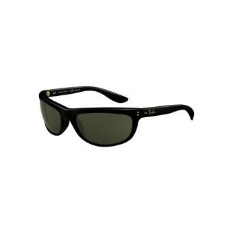 aeb571f53b6434 Ray-ban balorama ii noir brillant vert polarisé - medium-large - Lunettes -  Achat   prix   fnac