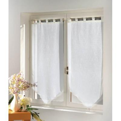 Douceur d'intérieur 1361746 paire pompon luminea uni blanc 2 x 60 /160 cm