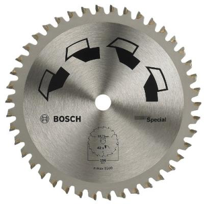 Bosch 2609256898 Special Lame De Scie Circulaire 42 Dents Carbure Diamètre 156 Mm Alésage De 12,75