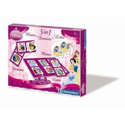 Coffrets jeux 3 en 1 - Princesses Disney : Memo, Domino, Loto