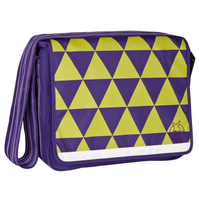 Sac à langer casual messenger triangle prune
