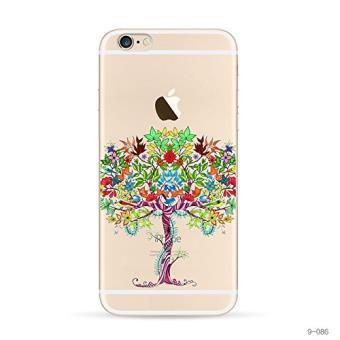 Coque transparente gel souple incaable avec impreion de motif fantaisie iPhone 5 5s Arbre colore