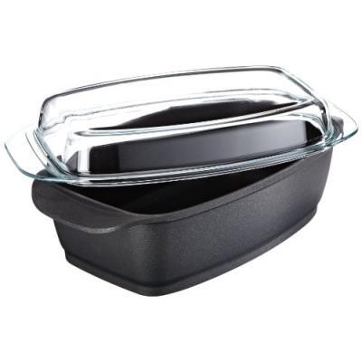berndes 095964 cocotte en fonte d'aluminium avec revêtement anti-adhésif et couvercle en verre 33 x 21 cm (noir)