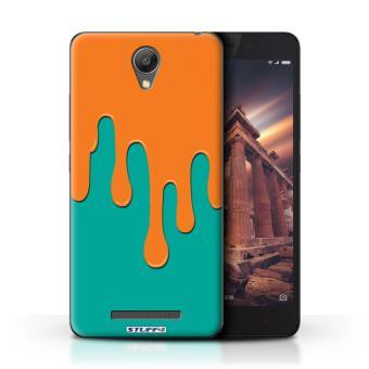 Coque De Stuff4 Etui Housse Pour Xiaomi Redmi Note 2 Prime Orange Bleu Design Deversement Peinture Collection