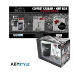 Coffret cadeau games of thrones : mug, porte-clés et badges aby style