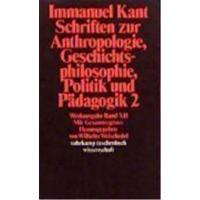 Schriften zur anthropologie vol 2