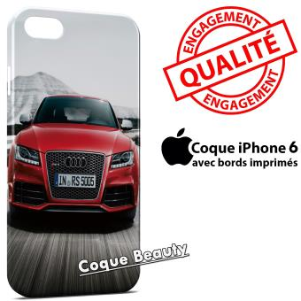 coque iphone 6 audi rouge luxe - achat & prix | soldes fnac