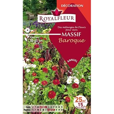 Royalfleur Pfrf08634 Graines De Mélange De Fleurs Mon Massif Baroque 25 M²