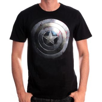 Tshirt Captain America Marvel Captain Shield Silver
