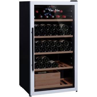cave vin de vieillissement 1 temp 100 bouteilles noir vin sur vin aci vsv443 pose. Black Bedroom Furniture Sets. Home Design Ideas