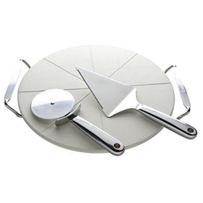 Cuisinart spz01e set pizza avec ustensiles, acier brillant / cordiérite