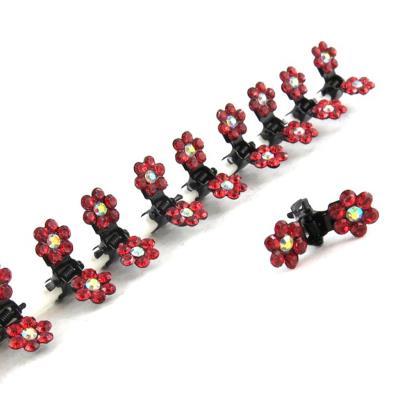 12 minis pinces 'Sissi' rouge
