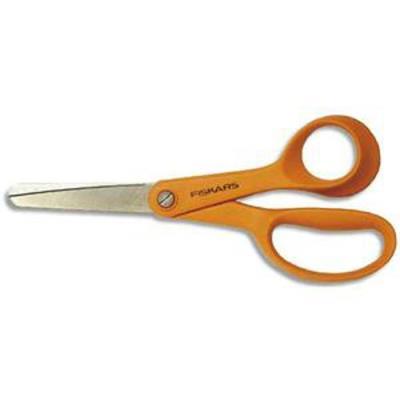 Lot de 6 ciseaux classic longueur 14cm, pour droitier bout rond, orange