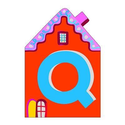 Djeco - Lettre petite maison en bois - Q