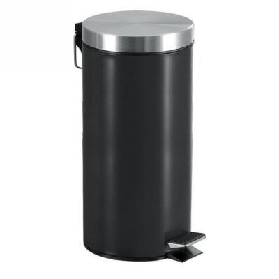 Poubelle 30L métal noir