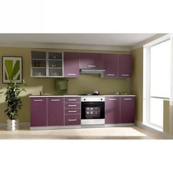 toulouse cuisine complete 260 cm couleur aubergine achat. Black Bedroom Furniture Sets. Home Design Ideas