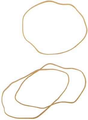 Bracelet Caoutchouc Blond 120 Mm - Sac De 1kg