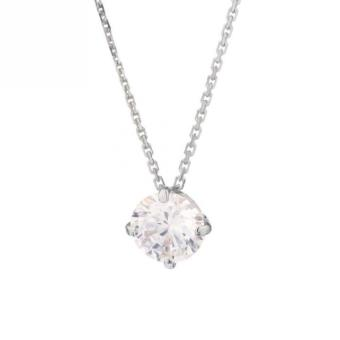 or blanc collier femme
