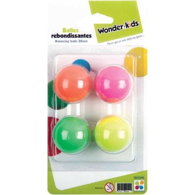cofalu kim'play s.a. - 4 balles rebondissantes 38mm