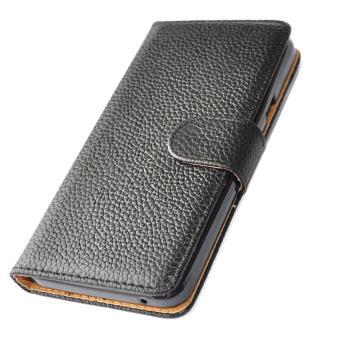 houe coque etui portefeuille en cuir veritable pour apple iphone 6 plus