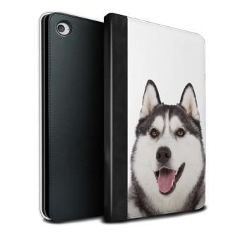 23878c8593 Stuff4 Coque/Housse de Livre Cuir PU Case pour Apple iPad Mini 4 tablette /  Husky/Esquimau Design / Chiens Collection - Housse Tablette - Achat & prix  | ...