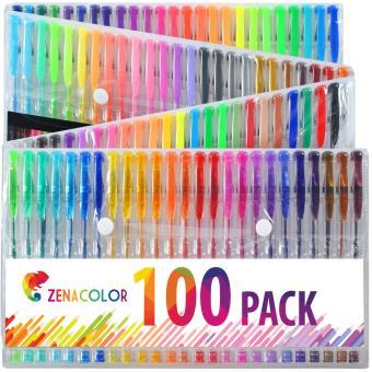 100 Stylos Gel De Couleur Feutres Coloriage Adultes Et Enfants Zenacolor Crayon De Couleur Achat Prix Fnac
